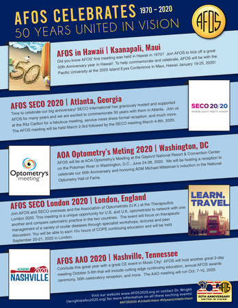 AFOS 50th flyer