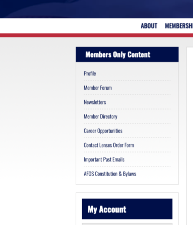 Members Only Section